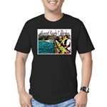 Newport beach pier fishing Men's Fitted T-Shirt (d