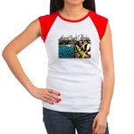 Newport beach pier fishing Women's Cap Sleeve T-Sh
