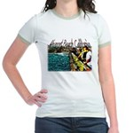 Newport beach pier fishing Jr. Ringer T-Shirt