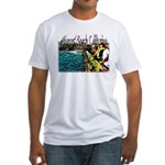 Newport beach pier fishing Fitted T-Shirt