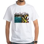 Newport beach pier fishing White T-Shirt