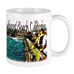 Newport beach pier fishing Mug