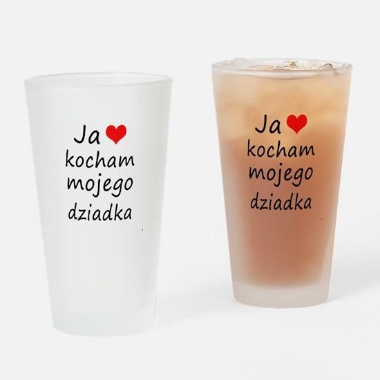 I love MY Grandpa (Polish) Drinking Glass