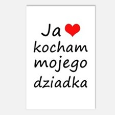I love MY Grandpa (Polish) Postcards (Package of 8
