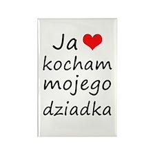 I love MY Grandpa (Polish) Rectangle Magnet