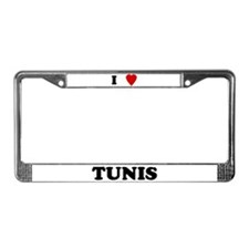 I Love Tunis License Plate Frame