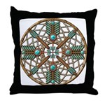 Turquoise Copper Dreamcatcher Throw Pillow