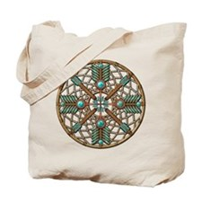 Turquoise Copper Dreamcatcher Tote Bag