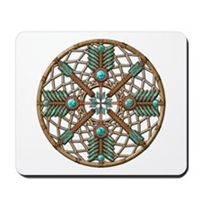Turquoise Copper Dreamcatcher Mousepad