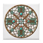 Turquoise Copper Dreamcatcher Tile Coaster