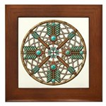 Turquoise Copper Dreamcatcher Framed Tile