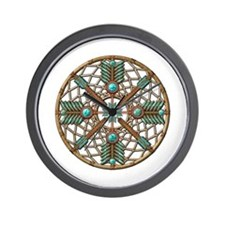 Turquoise Copper Dreamcatcher Wall Clock