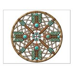 Turquoise Copper Dreamcatcher Small Poster