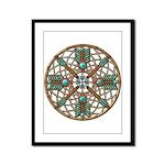 Turquoise Copper Dreamcatcher Framed Panel Print