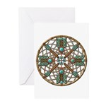 Turquoise Copper Dreamcatcher Greeting Cards (Pk o