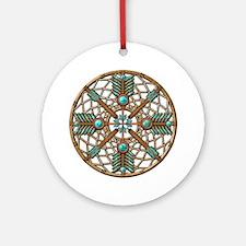 Turquoise Copper Dreamcatcher Ornament (Round)