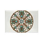 Turquoise Copper Dreamcatcher Rectangle Magnet