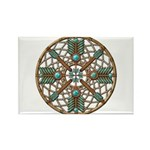 Turquoise Copper Dreamcatcher Rectangle Magnet (10