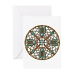 Turquoise Copper Dreamcatcher Greeting Card