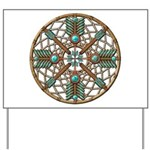 Turquoise Copper Dreamcatcher Yard Sign