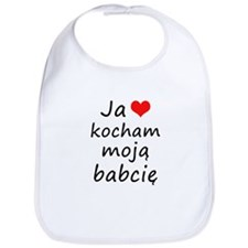 I love MY Grandma (Polish) Bib