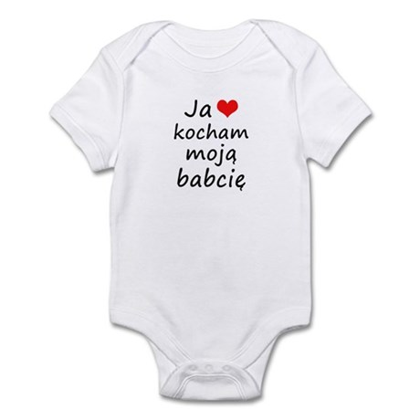 I love MY Grandma (Polish) Infant Bodysuit