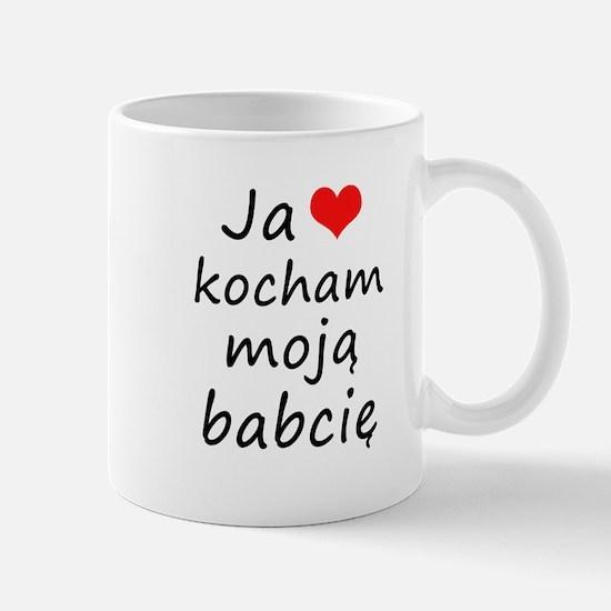I love MY Grandma (Polish) Mug