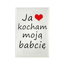 I love MY Grandma (Polish) Rectangle Magnet