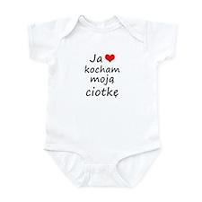 I love MY Aunt (Polish) Infant Bodysuit