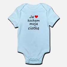 I love MY Aunt (Polish) Infant Bodysuit