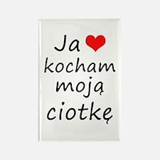 I love MY Aunt (Polish) Rectangle Magnet