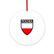 Poland (POLSKA) Patch Ornament (Round)