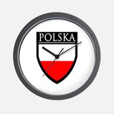 Poland (POLSKA) Patch Wall Clock