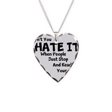 Hater Read Shirts Necklace