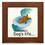 Dog's Life Framed Tile