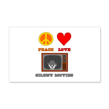 Peace Love Silent Movies 22x14 Wall Peel