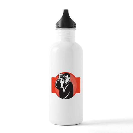 photographer dslr camera Stainless Water Bottle 1.
