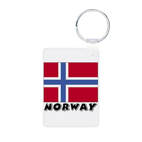 Norway Flag (World) Aluminum Photo Keychain