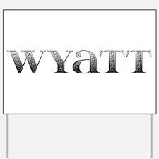 Wyatt Carved Metal Yard Sign