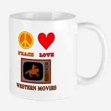 Peace Love Western Movies Mug