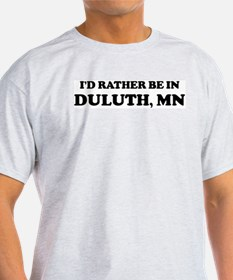 Rather be in Duluth Ash Grey T-Shirt