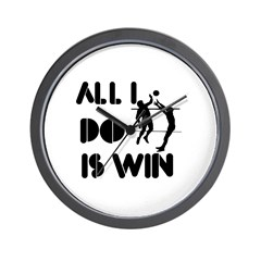 All I do is Win Volleyball Wall Clock