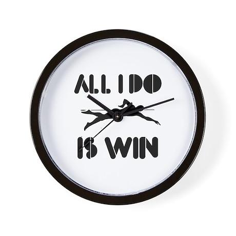 All I do is Win Swim Wall Clock