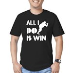 All I do is Win Sumo Men's Fitted T-Shirt (dark)
