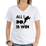 All I do is Win Sumo Women's V-Neck T-Shirt