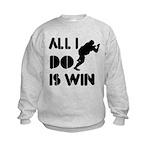 All I do is Win Sumo Kids Sweatshirt