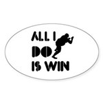 All I do is Win Sumo Sticker (Oval 10 pk)