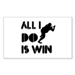 All I do is Win Sumo Sticker (Rectangle 50 pk)