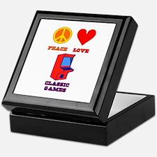 Peace Love Classic Games Keepsake Box