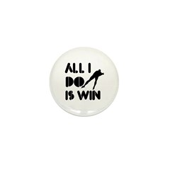 All I do is Win Speedskating Mini Button (100 pack